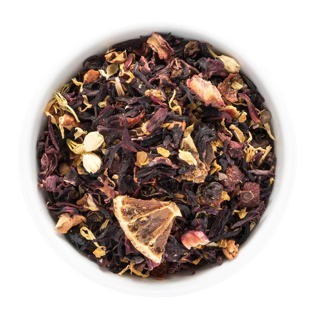 Herbal tea in bowl